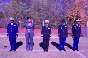 Lieutenant Commander Jones, Dr. Bey, Captain Daniels, Colonel Hines, Colonel Rentz